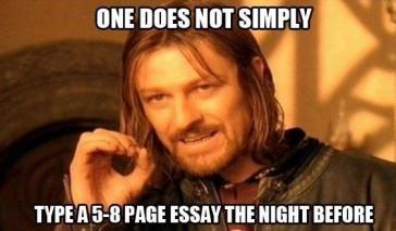 Essay meme